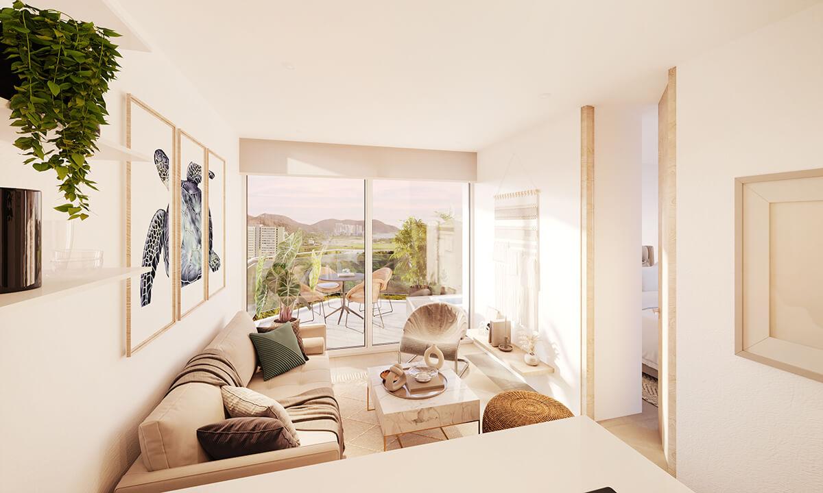 Suites de 1 alcoba a partir de 34 m2